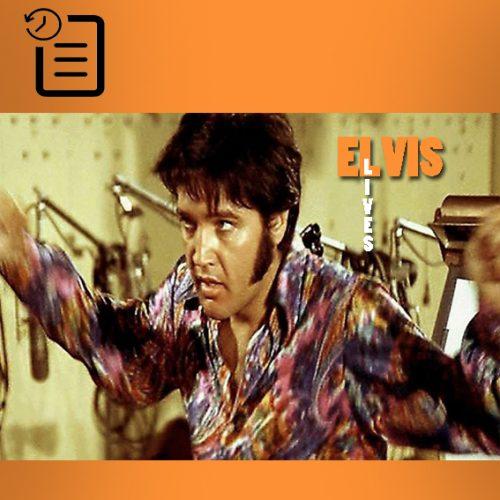 الویس در حال تمرین در استودیو MGM در کالور سیتی جهت فیلم مستند That's The Way It Is چنین روزی 14 ژوئیه 1970