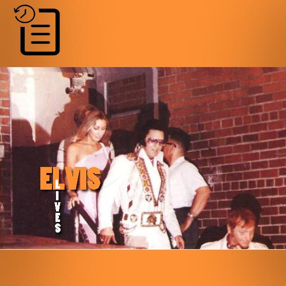 الویس در اجرای ساعت 8:30 شب در مرکز اجتماعات، چارلستون چنین روزی 12 ژوئیه 1975
