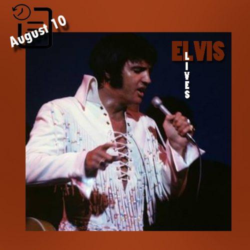 الویس در شو روم هتل بین المللی، لاس وگاس چنین روزی 10 آگوست 1970