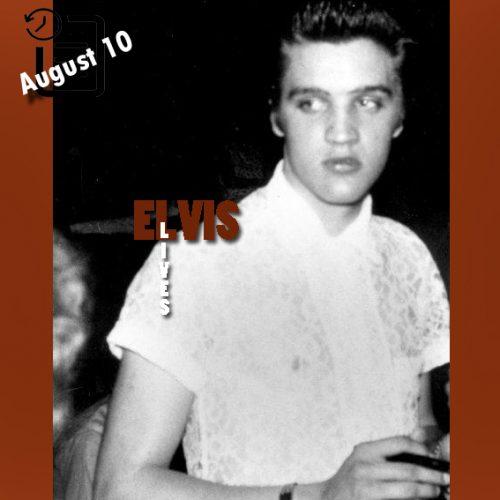 الویس در بیس بال پارک، گلیدواتر، تگزاس چنین روزی 10 آگوست 1955