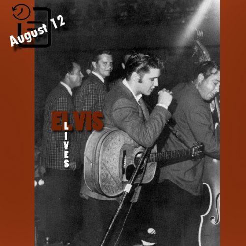 الویس در سالن شهرداری ، نیواورلئان، لوئیزیانا چنین روزی 12 آگوست 1956