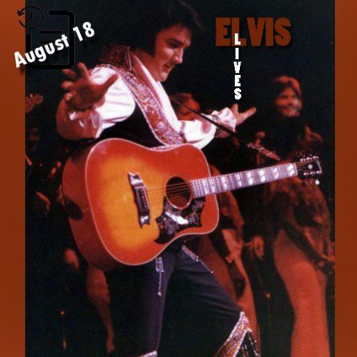 الویس در شو روم لاس وگاس هیلتون در لاس وگاس چنین روزی 18 آگوست 1975