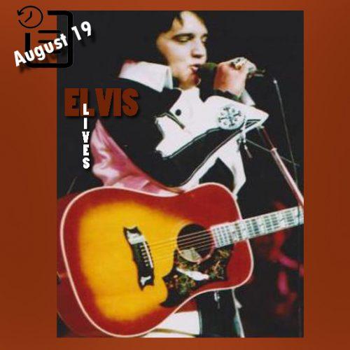الویس در اجرای نیمه شب در لاس وگاس چنین روزی 19 آگوست 1975