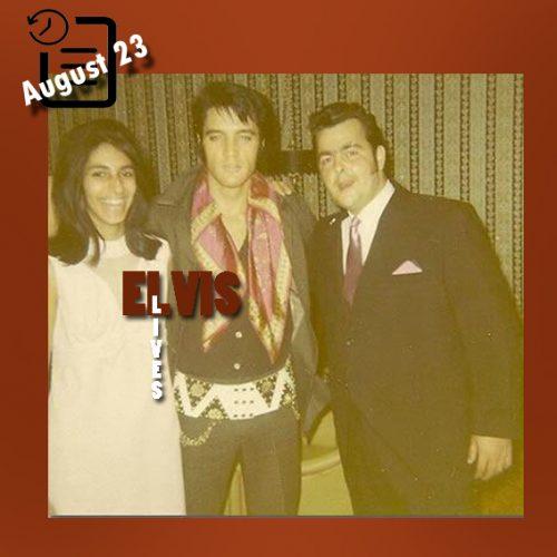 الویس همراه با دوستدارانش چنین روزی 23 آگوست 1969