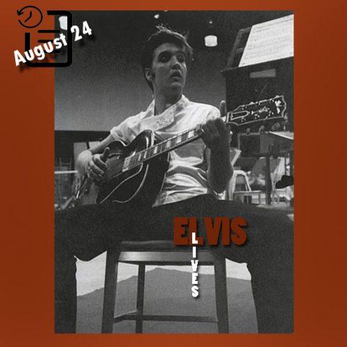 الویس در استودیو ضبط صدای فاکس چنین روزی 24 آگوست 1956