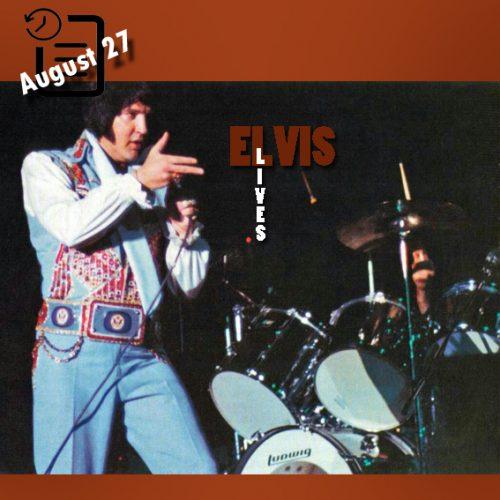 الویس در مرکز کنوانسیون آرنا، سن آنتونیو چنین روزی 27 آگوست 1976