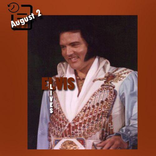 الویس در مرکز اجتماعات، روناک ویرجینیا چنین روزی 2 آگوست 1976