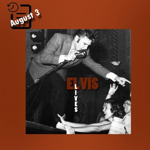 الویس در سالن تئاتر المپیک، میامی، فلوریدا چنین روزی 3 آگوست 1956
