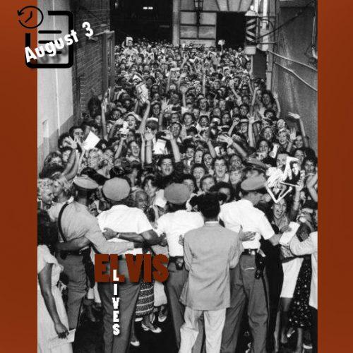 ازدحام طرفداران الویس در مقابل در ورودی سالن تئاتر المپیا شهر میامی فلوریدا چنین روزی 3 آگوست 1956