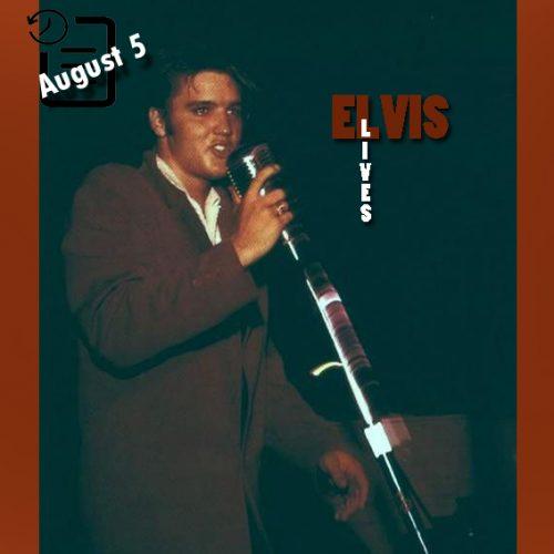 الویس در اسلحه خانه فورت هومر هسترلی ، تمپا، فلوریدا چنین روزی 5 آگوست 1956