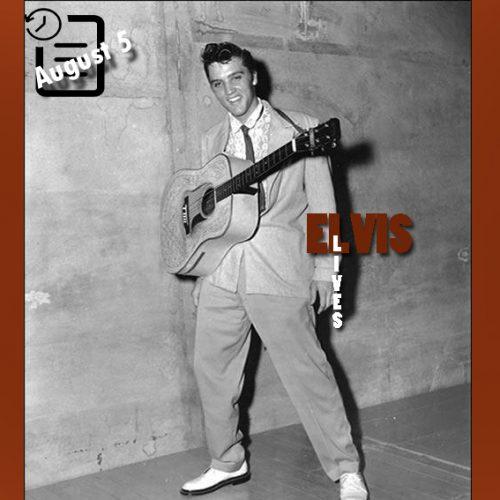 الویس در اورتون پارک شل، ممفیس چنین روزی 5 آگوست 1955
