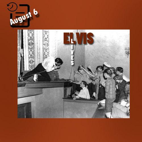 الویس در سالن تئاتر پولک، لیک لند، فلوریدا چنین روزی 6 آگوست 1956