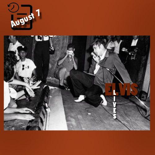 الویس در سالن تئاتر فلوریدا، سن پترزبورگ، فلوریدا چنین روزی 7 آگوست 1956