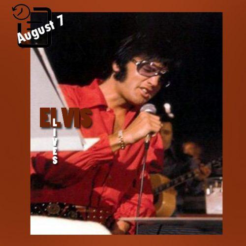 الویس در حال تمرین برای فیلم  That's The Way It Is  در لاس وگاس چنین روزی 7 آگوست 1970