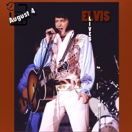 الویس در سالن یادبود کامبرلند کانتی ، فایت ویل، کارولینای شمالی چنین روزی 4 آگوست 1976