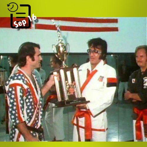 الویس در موسسه کاراته تنسی چنین روزی 16 سپتامبر 1974