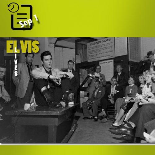 الویس در ورزشگاه سیک، سیاتل، واشنگتن چنین روزی اول سپتامبر 1957