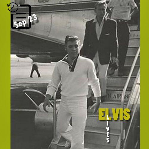 الویس به همراه نیک آدامز چنین روزی 23 سپتامبر 1956