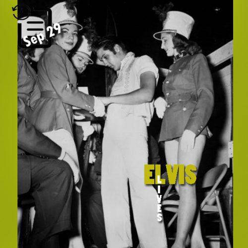 الویس در مید سویت فیر در شهربازی ممفیس چنین روزی 29 ستامبر 1956