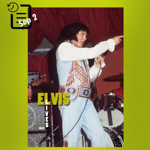 الویس در کورتیس هیکسون هال، تمپا، فلوریدا چنین روزی 2 سپتامبر 1976