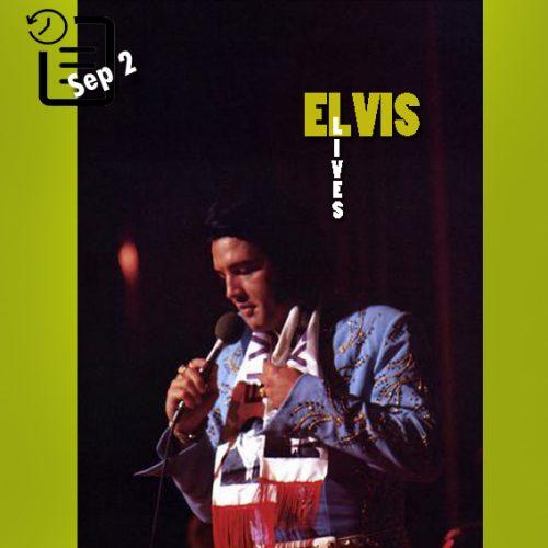 الویس در یک اجرای ویژه ای در لیبور دی لاس وگاس چنین روزی 2 سپتامبر 1972