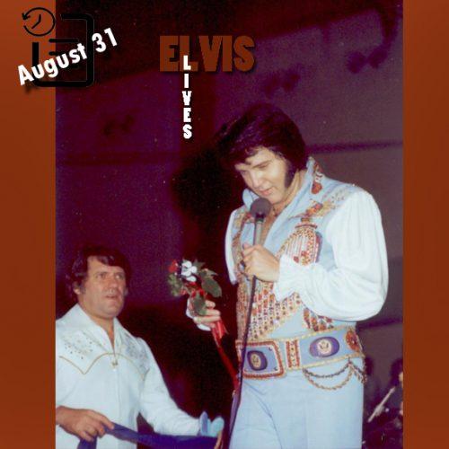 الویس در سالن بزرگ شهر ماکن جورجیا چنین روزی 31 آگوست 1976