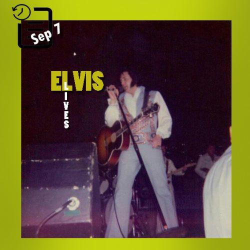 الویس در مرکز کنوانسیون، پاین بلاف، آرکانزاس چنین روزی 7  سپتامبر 1976