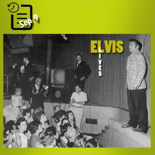 الویس در شوی تلویزیونی اد سالیوان، در استودیو CBS، لس آنجلس چنین روزی 9 سپتامبر 1956