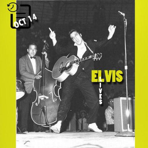 الویس در سالن بزرگ شهرستان بیر، سن آنتونیو، تگزاس چنین روزی 14 اکتبر 1956