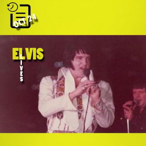 الویس در ورزشگاه رابرتز ، اونسویل، ایندیانا چنین روزی 24 اکتبر 1976