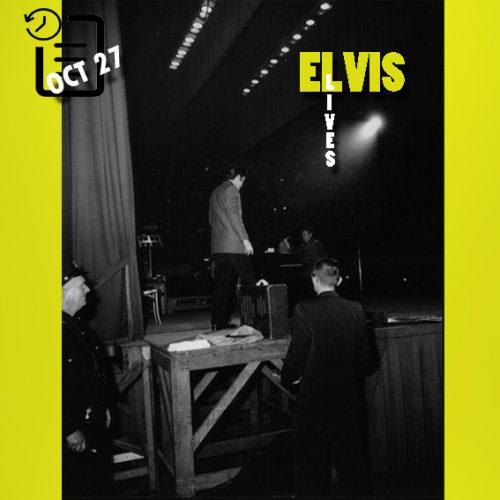 الویس در سالن بزرگ اوکلند کالیفرنیا چنین روزی 27 اکتبر 1957