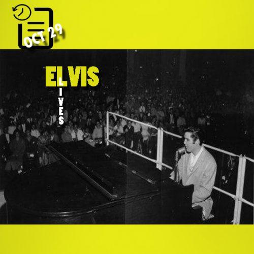 الویس در تالار بزرگ پن پاسیفیک لوس انجلس ایالت کالیفرنیا چنین روزی 29 اکتبر 1957