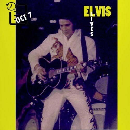 الویس در هنری لویت آرنا، دانشگاه ایالتی ویچیتا، کانزاس چنین روزی 7 اکتبر 1974