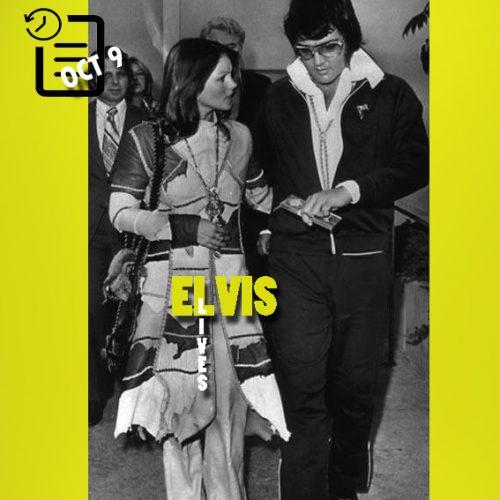 الویس و پریسیلا در روز صدور حکم طلاق چنین روزی 9 اکتبر 1973