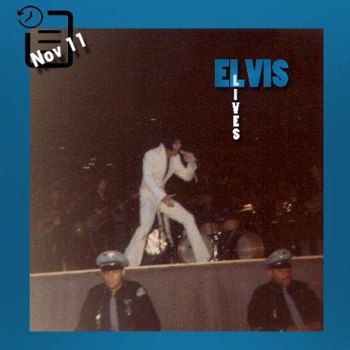 الویس در تالار بزرگ Memorial Coliseum در پورتلند ایالت اورگن چنین روزی 11 نوامبر 1970