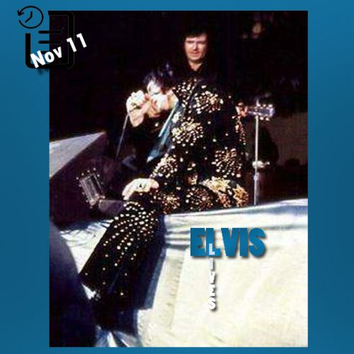 الویس در باغات Cincinnati Gardens واقع در شهر سینسیناتی ایالت اوهایو  چنین روزی 11 نوامبر 1971