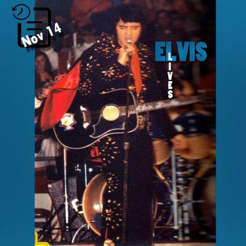 الویس در دانشگاه Alabama Field House,واقع در شهر توسکالوسای ایالت آلاباما چنین روزی 14 نوامبر 1971