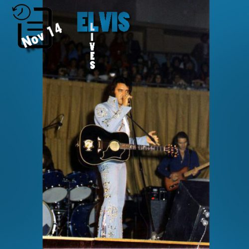 الویس در آرنای لانگ بیچ در ایالت کالیفرنیا چنین روزی 14 نوامبر 1972