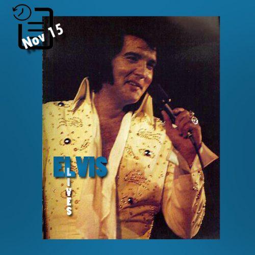 الویس در آرنا لانگ بیچ کالیفرنیا چنین روزی 15 نوامبر 1972