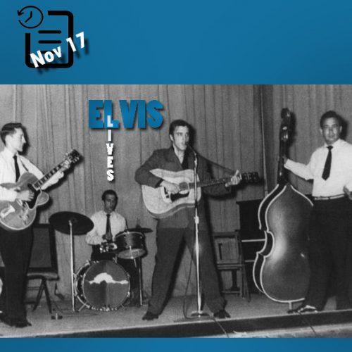 الویس در تالار همایشهای شهرداری ایالت آرکانزاس واقع در تکسارکانا چنین روزی 17 نوامبر 1955