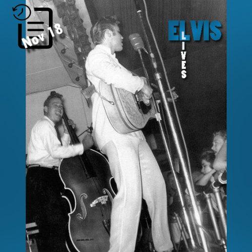 الویس در Reo Palm Isle واقع در شهر لانگ ویوی ایالت تگزاس چنین روزی 18 نوامبر 1955