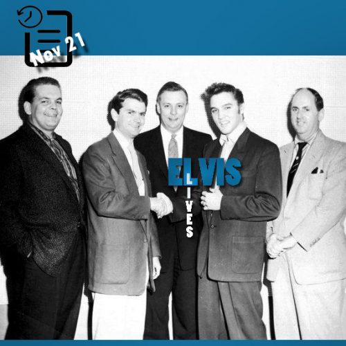 باب نیل ، سم فلیپس ،کلمن، الویس و تام پارکر در استودیو سان چنین روزی 21 نوامبر 1955