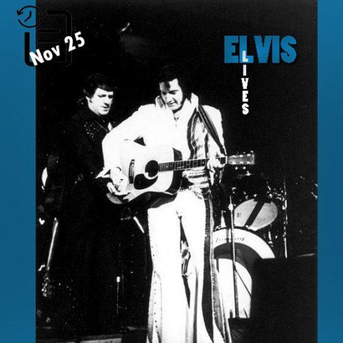 الویس در دانشگاه Oregon Mc Arthur Court واقع در یوجین ایالت اورگان چنین روزی 25 نوامبر 1976