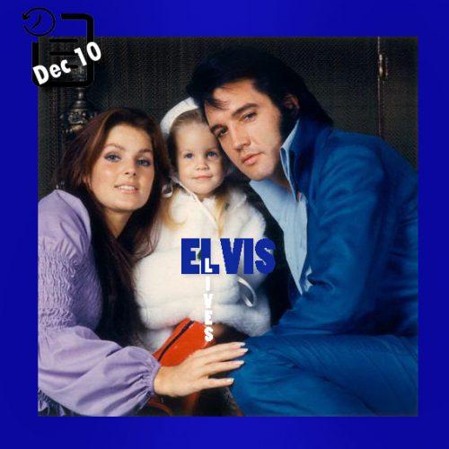 الویس و پریسیلا و لیزا ماری در لس آنجلس چنین روزی 10 دسامبر 1970