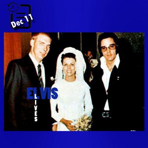 الویس در جشن ازدواج افسر پلیس 'دیک گراب چنین روزی 11 دسامبر 1970