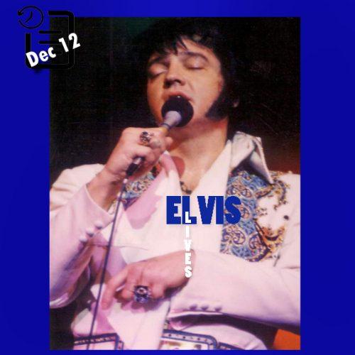 الویس در آخرین اجرایش در لاس وگاس چنین روزی 12 دسامبر 1976