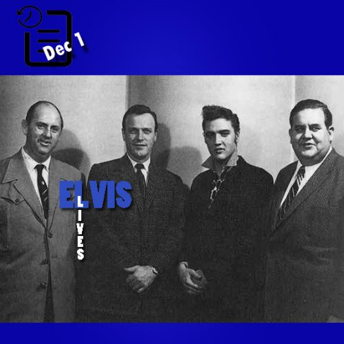 تام پارکر ، ادی آرنولد، الویس و استیو شولز در نیویورک روزی اول دسامبر 1955