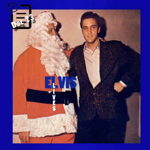 الویس و هوپ لانگ و تام پارکر در لباس بابانوئل در آخرین روز صحنه فیلمبرداری Wild In The Country چنین روزی 23 دسامبر 1960