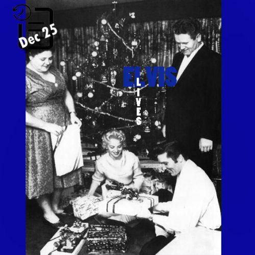 الویس کریسمس را در منزل Audubon Drive خود جشن گرفت چنین روزی 25 دسامبر 1956
