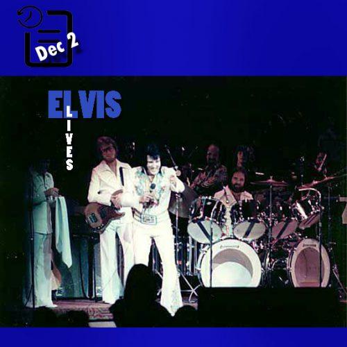 الویس در سالن نمایش هتل هیلتون شهر لاس وگاس چنین روزی 2 دسامبر 1976